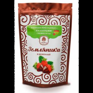 фото СИБИРСКИЙ КЕДР Конфеты Земляника в шоколадной глазури 100 г